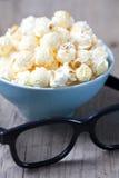 Maïs éclaté et glaces 3D Photographie stock