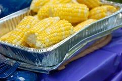 Maïs au pique-nique photographie stock libre de droits