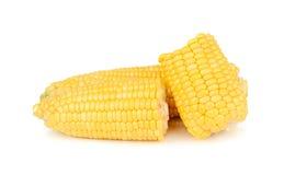 Maïs d'isolement sur le fond blanc Photographie stock libre de droits