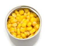 Maïs dans l'étain images stock