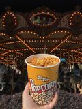 Maïs de bruit en parc d'attractions image stock