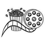 maïs de bruit et icône de clipart de production cinématographique Photographie stock libre de droits
