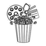 maïs de bruit, film et icône de clipart Photos stock
