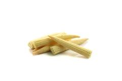 Maïs de chéri d'isolement à l'arrière-plan blanc Image stock