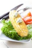 Maïs et beurre persillé Image libre de droits