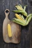 Maïs et bois Photographie stock libre de droits