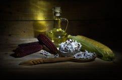Maïs et huile de maïs Images libres de droits