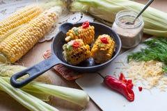 Maïs frit photo stock