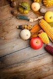 Maïs, graan, appel en pompoen Royalty-vrije Stock Afbeelding