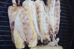 Maïs grillé par barbecue Image libre de droits