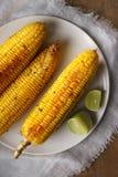 Maïs grillé par beurre de miel Photos libres de droits