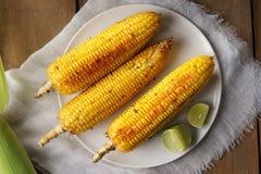 Maïs grillé par beurre de miel Photos stock