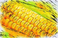 Maïs moissonné illustration stock