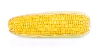Maïs sur un fond blanc Photo libre de droits