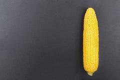Maïs sur un fond noir Photo stock