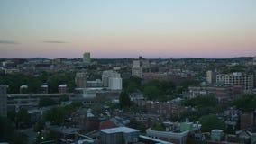 Mañana al día Timelapse sobre Boston South End metrajes