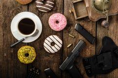 Mañana americana del oficial de policía Imagen de archivo libre de regalías