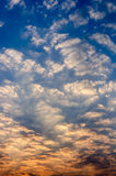 Mañana azul hermosa Foto de archivo libre de regalías