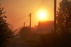 Mañana brumosa Foto de archivo libre de regalías