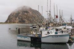 Mañana brumosa en la bahía de Morro Fotos de archivo