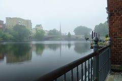 Mañana brumosa Tampere, Finlandia Fotografía de archivo libre de regalías