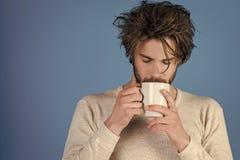 Mañana con café o leche foto de archivo libre de regalías
