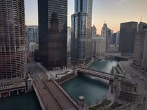 Mañana de Chicago con una visión Imagen de archivo libre de regalías