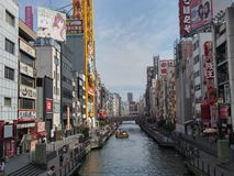 Mañana de Dotonbori, Osaka Imagenes de archivo