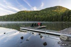 Mañana de Jo del lago y del soporte heart Imagen de archivo libre de regalías