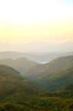 Mañana de la montaña Foto de archivo