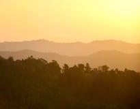 Mañana de la montaña Imagenes de archivo