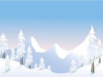 Mañana de la montaña stock de ilustración