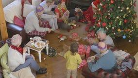 Mañana de la Navidad almacen de video