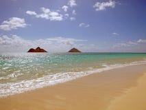 Mañana de la playa de Lanakai Foto de archivo libre de regalías