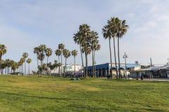 Mañana de la playa de Venecia Imagen de archivo libre de regalías