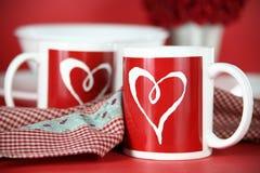 Mañana de la tarjeta del día de San Valentín Foto de archivo