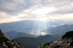 Mañana de las montañas Foto de archivo libre de regalías