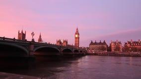 Mañana de Londres almacen de metraje de vídeo