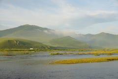 Mañana de los ríos Fotografía de archivo libre de regalías
