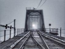 Mañana de niebla del río Missouri fotografía de archivo
