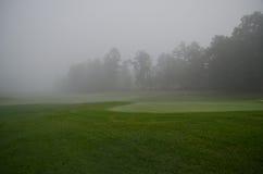 Mañana de niebla en el verde Fotografía de archivo libre de regalías