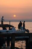 Mañana de pescadores Imagen de archivo libre de regalías