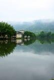 Mañana de Slient de la orilla del lago Imagen de archivo