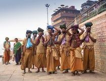 Mañana de Varanasi en el río de Ganga Fotografía de archivo libre de regalías