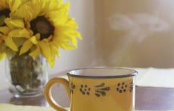 Mañana del café Foto de archivo libre de regalías