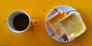 Mañana del café antes del trabajo imagen de archivo libre de regalías