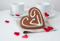 Mañana del día de tarjeta del día de San Valentín Fotografía de archivo libre de regalías