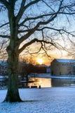 Mañana del invierno, Aarhus Imágenes de archivo libres de regalías