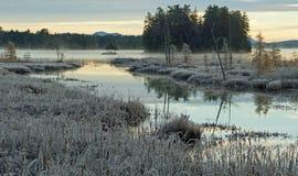 Mañana del invierno en las montañas de Adirondack Imagen de archivo libre de regalías