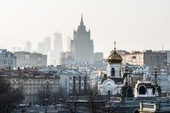 ¡Mañana del invierno en Moscú! Imágenes de archivo libres de regalías